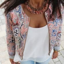 -Fashion Women´s Floral Slim Casual Summer Blazer Suit Jacket Coat Outerwear on JD