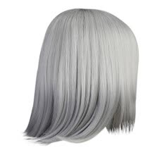 -Lacetre High Quality Sexy Women Short Gray Wig Party Synthetic Fashion Wigs Rose Net Ho on JD