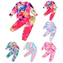 -Toddler Kids Baby Boys Girls Tie-Dye Fashion Keep Warm Tops+Pants Outfits Set on JD