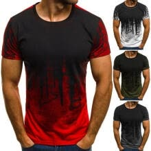 -Fashion Mens Short Sleeve T Shirt Slim Fit Casual Blouse Tops Summer Clothing Muscle Tee on JD