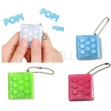 key-chains-PuchiPuchi Endless Pop Pop Infinite Bubble Wrap Relieve Stress Key Chain Squeeze on JD