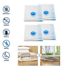 -Vacuum Storage Space Saving Bag Bags Compressed Travel Reusable Large-Saver 4PC on JD