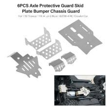 -6PCS Axle Protective Guard Skid Plate Bumper Chassis Guard for 1/10 Traxxas TRX-4 Land Rover 82056-4 RC Crawler Car on JD