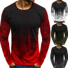 -Fashion Men Long Sleeve T Shirt Slim Fit Casual Blouse Tops Clothing Muscle Tee Hot Sale on JD