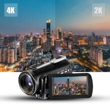 -Andoer AC3 4K UHD 24MP Digital Video Camera Camcorder DV Recorder 30X Zoom WiFi Connection IR Night Vision 3.1 Inch IPS LCD Touchs on JD