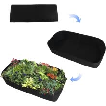 flowers-and-planter-Fabric Raised Felt planting bag Garden Bed Rectangle Breathable Planting Container flower pot vegetable plant Growth Bag on JD