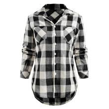 -Womens Tops And Blouses 2019 Women Vintage Plaid Pocket Long Sleeve Blouse Clothes Tunic Ladies Tops Fashion Clothing on JD