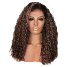 -Bowake Sexy Women Fashion Afro Long Kinky Curly Hair Wavy Wigs Lace Front Wig Party Wig on JD