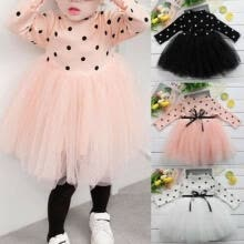 -Princess Long sleeve Baby Girl Dress Newborn Infant Baby Girl Clothes Bow Dot Tutu Ball Gown Party Dresses Baby Kid Girl cloth on JD