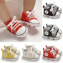 windbreaker-Newborn Baby Boys Girls Pre-Walker Soft Sole Pram Shoes Canvas Sneakers Trainers on JD