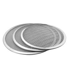 -New Seamless Aluminum Pizza Screen Baking Tray Metal Net Bakeware Kitchen Tools Pizza 6-22inch on JD