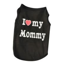 -Cat Pet Dog Vests Puppy Vest Clothes Cute I Love Mommy/Daddy T-Shirt Size S-XXL on JD