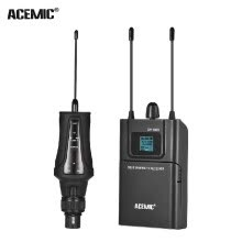 -ACEMIC True Diversity Wireless UHF Microphone System 80M Effective Range with Transmitter & Receiver for Canon Nikon Sony DSLR Cam on JD