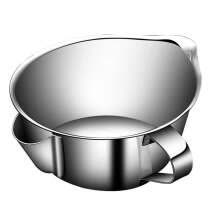 -1111Fourone 304 Stainless Steel Grease Bowl Soup Oil Multi-function Separator Kitchen Filter Pot Cooking Tool on JD