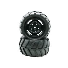 -2PCS Car Tires Rubber Wheel Tyre 82mm For 1:16 RC On Road Crawler Car Truck on JD