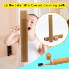 -aurora X Portable Natural Bamboo Toothbrush Case Tube For Travel Eco Friendly Hand Made on JD