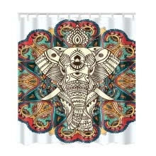 -shower curtain Elephant Bohemia Style Flag Underwater World Pattern Bathroom Bath Curtain Waterproof Polyester Shower Curtain on JD
