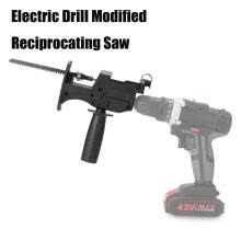 -Electric Drill Modified Electric Saw Electric Reciprocating Saw Household Saber Saw Power Drill to Jig Saw Portable Woodworking Cu on JD