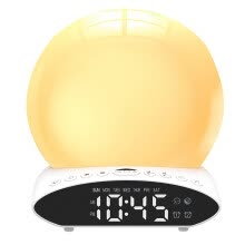 -Projection Wake-up Light Colorful Music  Sleep Aid Simulation Lamp Alarm Clock on JD