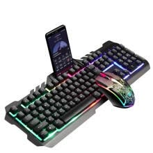 -2020 T21 Rainbow Backlit USB Wired Gaming Keyboard + Mouse,Computer Mouse Pad Set For FOR PS4 FOR PS3 FOR XBOX PC on JD