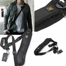 -Quick Strap Camera Single Shoulder Belt Sling for SLR DSLR Cameras Canon Sony Nikon on JD