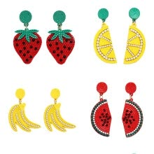 -4 Pairs Women Earrings Fashion Cute Fruit Design Pendant Earrings Drop Earrings on JD