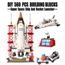 -DIY Toys 560 PCS ABS Plastic Military Space Ship Launcher Rocket Building Blocks Compatible With Lego Super Brick Toy For Kids on JD