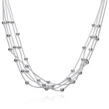 -New Fashion Jewelry 925 Sterling Silver Charm Five Lines Light Bead Snake Bone Chain Necklace for Women Gift1 X Necklace on JD