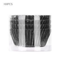 -100Pcs Grease Proof Baking Paper Cases Aluminum Foil Muffin Cups Cake Cupcake Liners for Wedding Party, Black on JD