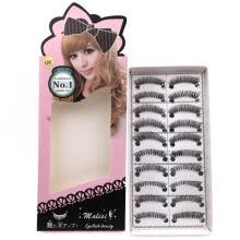 -10 Pairs Fake Eyelashes Natural Long Strip Daily Makeup Eye Lashes ((L04) on JD