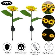 -Solar Sunflower Light Waterproof Energy Saving Outdoor Stake Lamp For Garden Lawn Path Decoration on JD