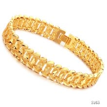 -Fashion Accessories Jewelry Delicate 18K Gold Plated Bracelet for Men with Rhombus Flower on JD