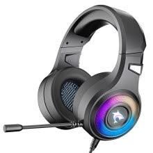 -Gaming Headset,Stereo Bass Surround RGB Noise Cancelling Over Ear Headphones,for PS4 Xbox One PC Nintendo Switch Tablet Smartphone on JD