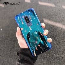 -TRONSNIC Universe Blu-ray Phone Case for Samsung Galaxy S8 S8 Plus Blue Pink Retro Case Shiny Silicon Cover on JD