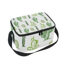 functional-bags-ALAZA Lunch Box Insulated Lunch Bag Large Cooler Tote Bag Cactus Pattern for Men, Women, Girls, Boys on JD