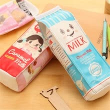 pencil-case-Pencil case simulation milk carton PU leather pencil case kawaii stationery storage organizer pouch pen bag on JD