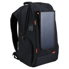 875062576-Outdoor Charging Backpack with USB Port Waterproof Breathable Travel Bag Wear-resisting Anti-theft Backpack  with Solar Panel on JD