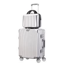 -Victoria Traveler Trolley Case 20 Inch Suitcase Male Universal Wheel Mother Multifunction Large Capacity Password Travel Box 9018 Silver on JD