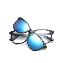 07cc5f1af8a Magnet eyeglasses Clip Mirrored Clip on Sunglasses Driver glasses Polarized  Men sunglasses Lens with clear glasses Frame