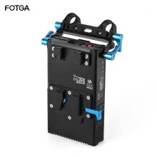 -FOTGA DP500III 2 in 1 V-mount Battery Plate Adapter Charger w/ 15mm Rod Clamp for Canon Nikon Sony Camera Camcorder Video Studio S on JD