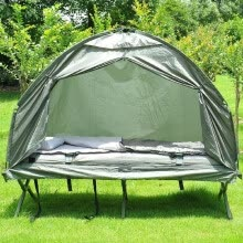 -Pop Up Tent Cot with Air Mattress and Sleeping Bag Combo on JD