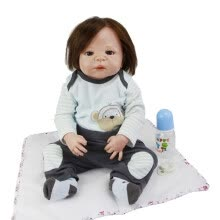 -Lifelike 23 Inch Reborn Baby Doll Full Body Silicone Fashion Princess Girl Babies Newborn Doll Toy For Kid Birthday Gift on JD