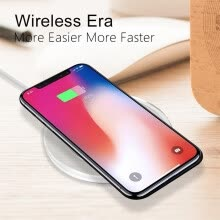 chargers-docks-New Ultra-Thin Crystal K9 Wireless Charger For iphone X Mobile Phone Qi Fast Charge Wireless Charging Base Transmitter Round on JD
