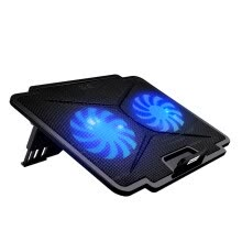 -COOLCOLD K24 Laptop Cooler Ultra-Thin Portable Adjustable Folding Ventilator USB 2 Cooling Fans Notebook Radiator on JD