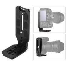 -L Shape QR Quick Release Plate Vertical Shooting Bracket Aluminum Alloy with 1/4 Inch Screw for Canon Nikon Sony DSLR Camera for Z on JD