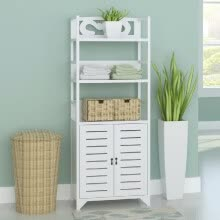 living-room-furniture-Bathroom Cabinet Albuquerque Wood White 18'x9.4'x46.3' on JD