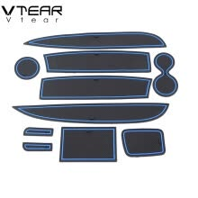 -Vtear For Renault Clio 4 Door Groove Mat Anti-Slip mat anti slip Non-slip gate slot cup pad door Interior decoration car-styling on JD