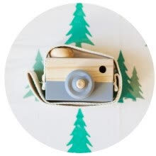 -Siaonvr Baby Kids Cute Wood Camera Toys Accessory Safe And Natural Toys on JD