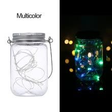 -Mason Jar Solar Lantern Lights Waterproof 20LEDs Lid Lamp Starry Fairy Light Creative Copper Wire String Outdoor Decor Patio Garde on JD