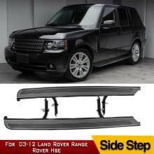 -Pair Side Step For 2003-2012 Land Rover Range Rover HSE Sport L322 Running Board BLK on JD